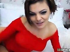 Tattooed Latina Perfect Ass Toying On Webcam