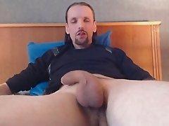 my throbbin poppin uncut cock cums again