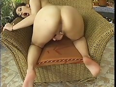 Solo Model Brunette With Big Tits Moaning While Masturbating