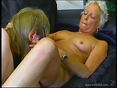 Granny amateur gets on her knees to suck cock and gets laid
