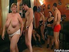 BBW Sluts Suck Cock and Get Fucked In a Bonerific Group Sex Party