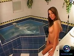 Hot Maria Belucci exploring her delectable goodies at the jacuzzi