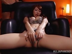 Foxy Asian amateur masturbating with toys till orgasm
