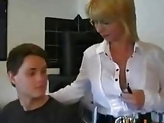 Nadja Summer - Hot German Mom Teaches Young Boy