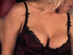 Classy but sadistic mistress in lingerie