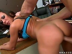 Bald headed dude fucks and rims tight anal hole of fuckable brunette Rachel Starr