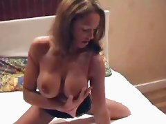 Horny amateur girl using dildo
