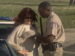 Marilyn chambers very sexy white milf arrested and fucked by black officer
