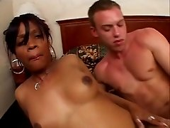Very rare hot ebony anal and DP scene