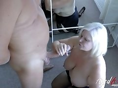 Horny chunky slut Lacey Starr only has sex with her bald neighbor