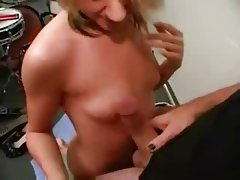 Groupie Slut gives handjob