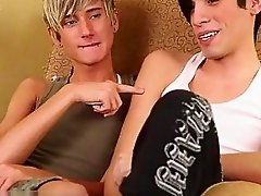 Naked men Emo twinks Cjay and Joey deepthroat down loads of cock!