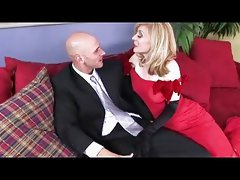 Mature Vamp in Red Gets the Cock