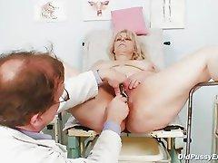 Mature Miriam fetish gyno exam speculum exam
