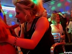 Party girls getting crazy with male strippers at a club