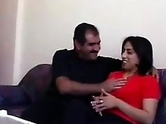 Arab Housewife Having Sex On The Couch