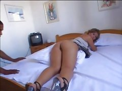 Gorgeous White chick gets fucked real nice and lonf by Black Dude