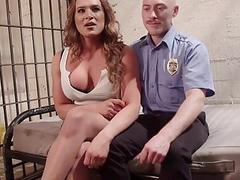Police officer fucks a shemale criminal hard and fast