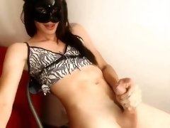 Amateur Tgirl webcam solo