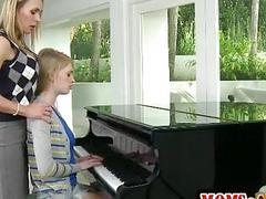 Piano teacher lesbosex with Allie James