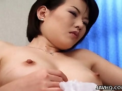 Some good masturbation and fingering for really bushy pussy of Japanese hoe