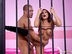 Hardcore prison doggy fuck for bombshell inmate Madison Ivy