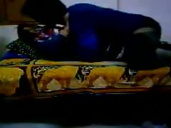 Aroused desi is caressing his girl sensually having steamy foreplay