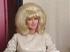 Blond classic bombshell Britt Morgan & Peter North - Crack attack