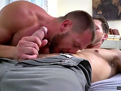 Mature gay dude seduced by a younger guy into a hardcore fuck