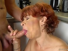 Horny granny Donatella spreads her legs for a hot lover