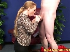 Bigtits dominatrix taunting during CFNM - PornGem