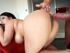 Pale but super sexy beauty Tigerr Benson is pounded from behind