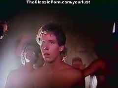 Ginger Lynn Allen riding hard dick in front of voyeurs