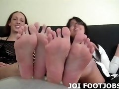 if you beg we will give you a double footjob joi