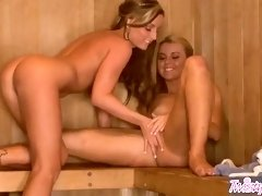 Twistys - Jessie Rogers , Melissa XoXo -n Enjoy In The Sauna