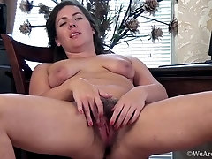Sharlyn does an erotic striptease and shows body