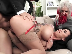 Thick Bap Lily Lane Cucks Her Spouse By Humping The Well Talented Chauffeur