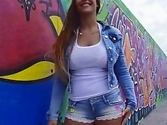 Kyra Hot shows of her amazing body in public
