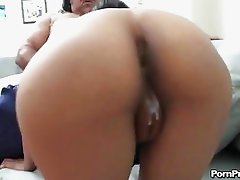 Sweet hottie Cali Lee crouches on a monster dick and sucks it in her mouth