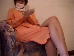 Asian Nurse red pumps Heeljob cock milked