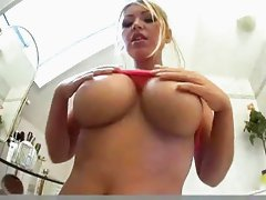 Busty Anette Dawn Oils Her Curvy Body